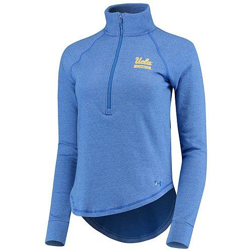 Women's Under Armour Light Blue UCLA Bruins Performance Tri-Blend Fleece 1/2-zip Jacket