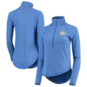 Women's Under Armour Light Blue UCLA Bruins Performance Tri-Blend Fleece 1/2-zip Jacket