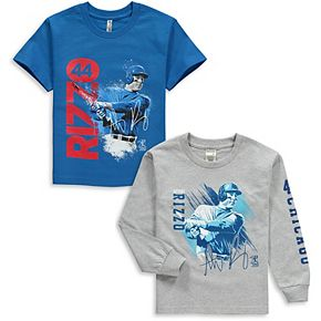 Youth Anthony Rizzo Royal/Gray Chicago Cubs Splash Player Graphic 2-Pack T-Shirt Set