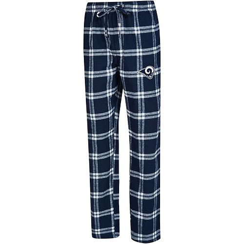Men's Concepts Sport Navy/White Los Angeles Rams Big & Tall Homestretch Flannel Pants
