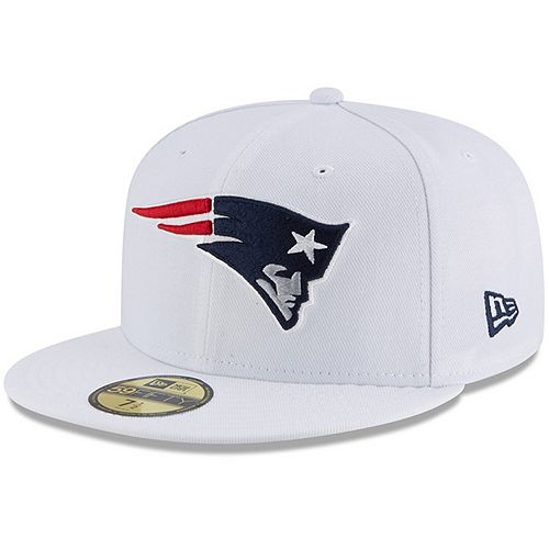 Men's New Era White New England Patriots Omaha 59FIFTY Fitted Hat