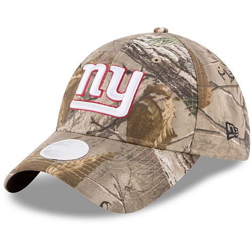 Women's New Era Realtree Camo New York Giants Lightly Structured 9TWENTY Adjustable Hat
