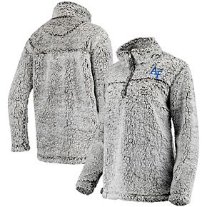 Women's Gray Air Force Falcons Sherpa Super Soft Quarter Zip Pullover Jacket