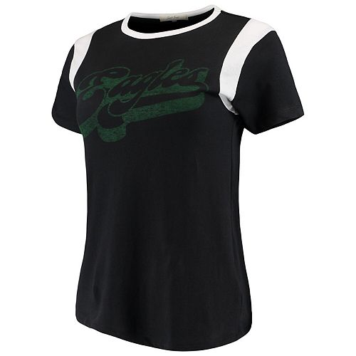 Women's Junk Food Black/White Philadelphia Eagles Retro Sport T-Shirt