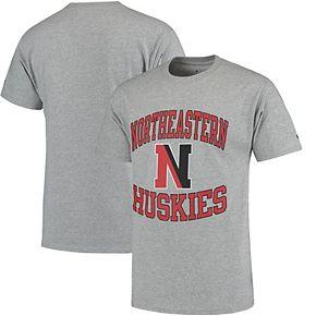 Men's Champion Gray Northeastern Huskies Tradition T-Shirt