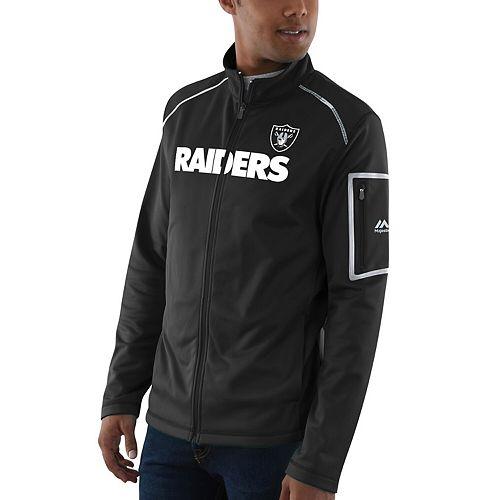 Men's Majestic Black Oakland Raiders Team Tech Track Jacket