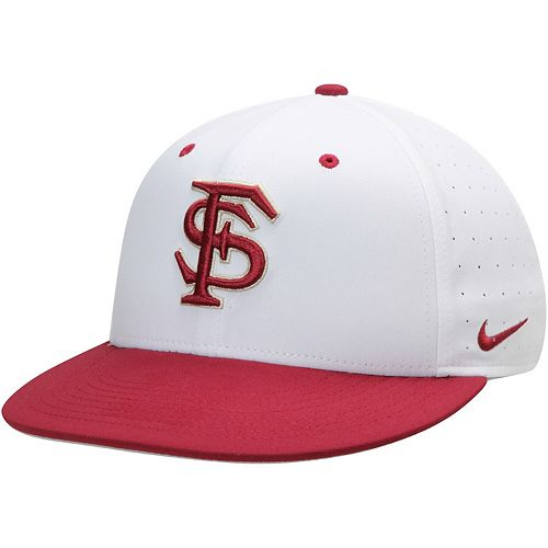 Men's Nike White Florida State Seminoles Aerobill Performance True Fitted Hat
