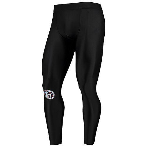 Men's Zubaz Black Tennessee Titans Speed Leggings