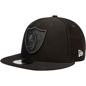 Men's New Era Black Oakland Raiders Kickoff Reverse Color Rush 9FIFTY Adjustable Hat