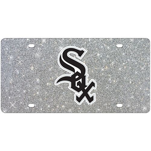 WinCraft Chicago White Sox Acrylic Glitter License Plate