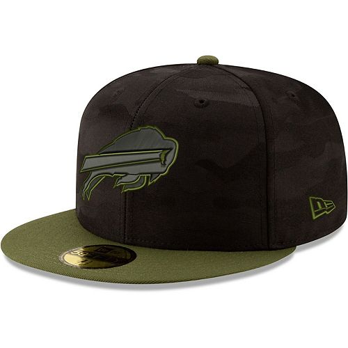 Men's New Era Black/Olive Buffalo Bills Camo Royale 59FIFTY Fitted Hat