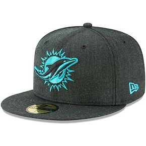 Men's New Era Heathered Black Miami Dolphins Bold 59FIFTY Fitted Hat