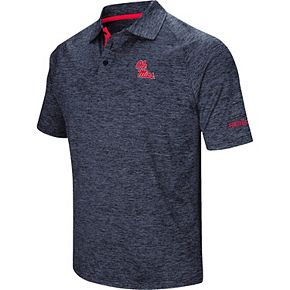 Men's Colosseum Navy Ole Miss Rebels Down Swing Polo