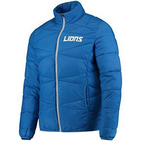 Men's G-III Sports by Carl Banks Blue Detroit Lions Blitz Packable Puffer Full-Zip Jacket