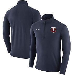 Men's Nike Navy Minnesota Twins Element Half-Zip Performance Top