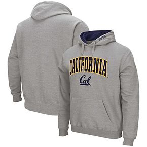 Men's Colosseum Heathered Gray Cal Bears Arch & Logo Pullover Hoodie