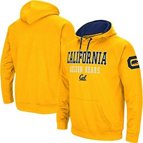Men's Colosseum Gold Cal Bears Performance Pullover Hoodie