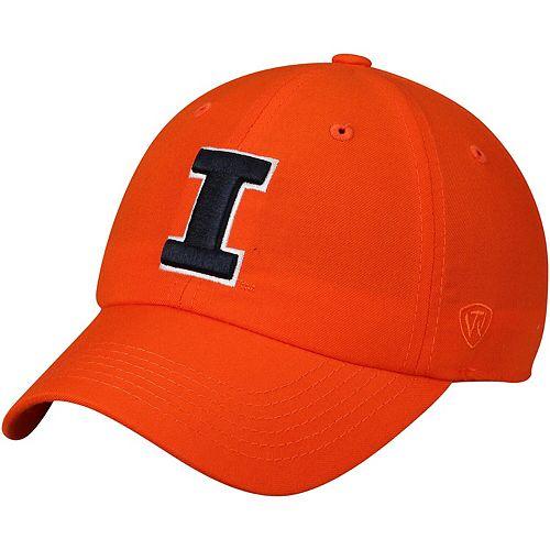 Men's Top of the World Orange Illinois Fighting Illini Primary Logo Staple Adjustable Hat