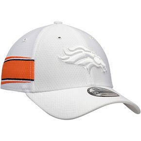 Men's New Era White Denver Broncos Kickoff 39THIRTY Flex Hat