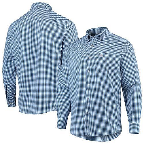 Men's Southern Tide Royal Kentucky Wildcats Gameday Gingham Sport Long Sleeve Button-Down Shirt