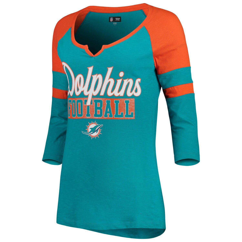 Orange Miami Dolphins Glitter Slub