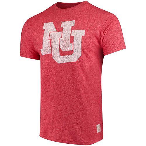Men's Original Retro Brand Scarlet Nebraska Cornhuskers Interlocking School Logo Mock Twist T-Shirt