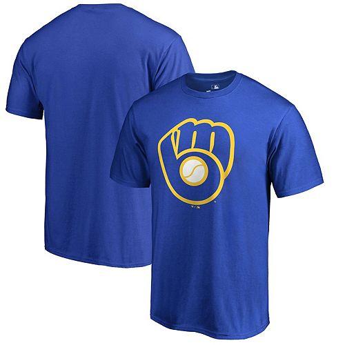 Men's Fanatics Branded Royal Milwaukee Brewers Primary Logo T-Shirt