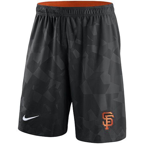 Men's Nike Black San Francisco Giants Knit Shorts