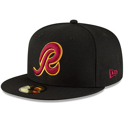 Men's New Era Black Washington Redskins Omaha 59FIFTY Hat