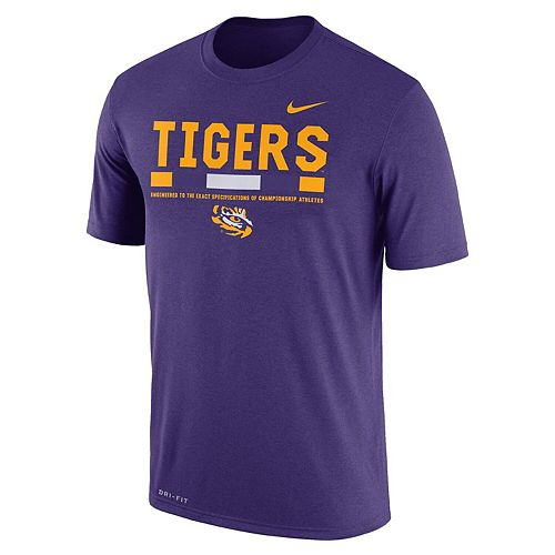 Men's Nike Purple LSU Tigers Staff Legend Performance T-Shirt