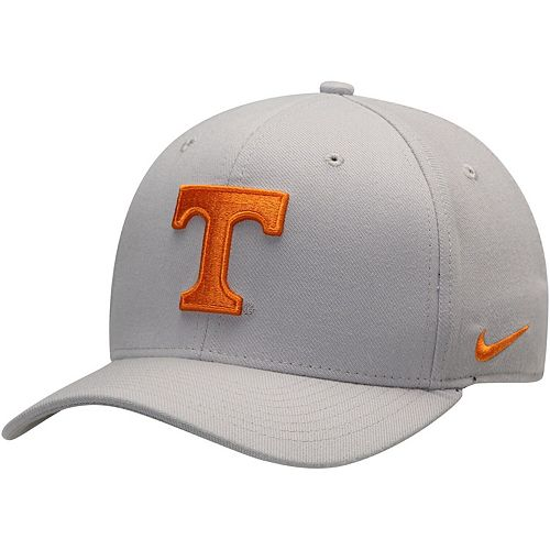 Men's Nike Gray Tennessee Volunteers Team Classic Logo 99 Swoosh Performance Flex Hat