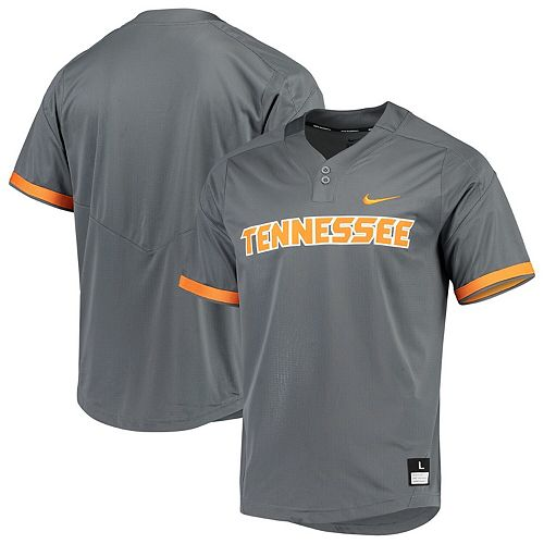 Men's Nike Gray Tennessee Volunteers Vapor Untouchable Elite Two-Button Replica Baseball Jersey