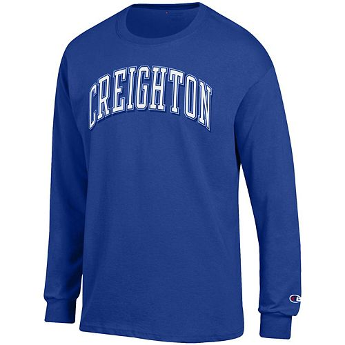 Men's Champion Blue Creighton Bluejays Arch Over Logo Long Sleeve T-Shirt