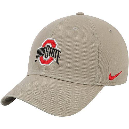 Ohio State Buckeyes Nike Heritage 86 Logo Performance Adjustable Hat - Khaki
