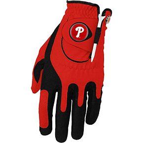 Men's Red Philadelphia Phillies Left Hand Golf Glove & Ball Marker Set