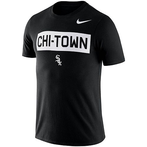 Men's Nike Black Chicago White Sox MLB Chi-Town Local Phrase T-Shirt