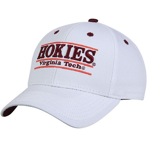 Men's The Game White Virginia Tech Hokies Classic Bar Adjustable Hat