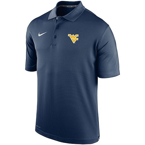 Men's Nike Navy West Virginia Mountaineers Collegiate Varsity Performance Polo