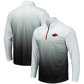 Men's Colosseum Gray Arkansas Razorbacks Magic Team Logo Quarter-Zip Jacket