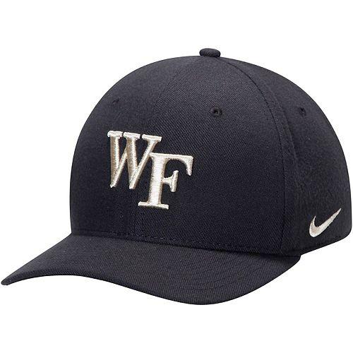 Men's Nike Black Wake Forest Demon Deacons Classic Logo 99 Swoosh Performance Flex Hat