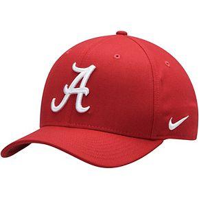 Men's Nike Black Alabama Crimson Tide Team Classic Logo 99 Swoosh Flex Hat