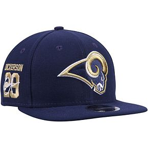 Men's New Era Eric Dickerson Navy Los Angeles Rams Signature Side 9FIFTY Adjustable Snapback Hat