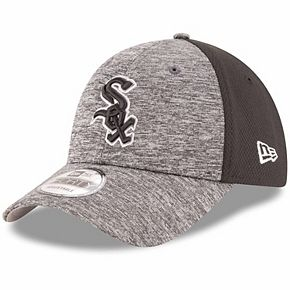 Men's New Era Heathered Gray/Black Chicago White Sox Shadowed Team Logo 9FORTY Adjustable Hat