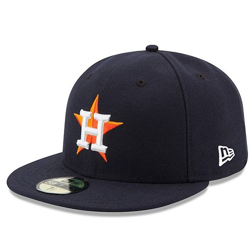 Men's New Era Navy Houston Astros Home Authentic Collection On Field 59FIFTY Performance Fitted Hat