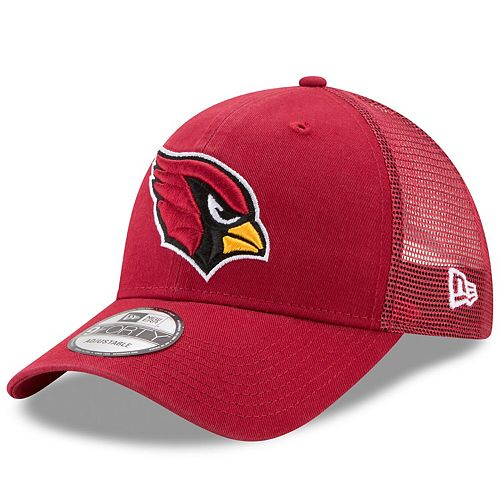 Men's New Era Cardinal Arizona Cardinals Trucker Washed 9FORTY Adjustable Hat