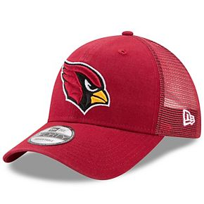 Men's New Era Cardinal Arizona Cardinals Trucker Washed 9FORTY Adjustable Hat