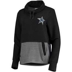 Women's Charcoal Dallas Cowboys Toula Tri-Blend Pullover Sweatshirt