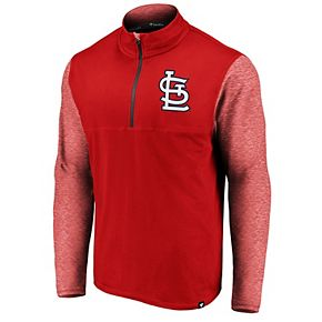 Men's Fanatics Branded Red St. Louis Cardinals Big & Tall Synthetic Made to Move 1/4-Zip Jacket