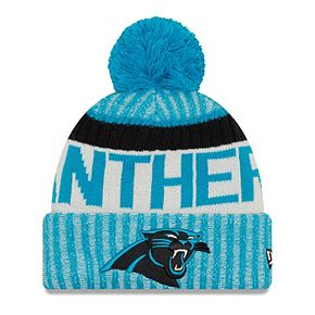 Youth New Era Blue Carolina Panthers 2017 Sideline Official Sport Knit Hat