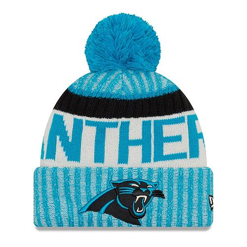 Youth New Era Blue Carolina Panthers 2017 Sideline Official Sport Knit Hat